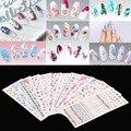 FANALA 12 Листов Наклейки на Ногти Искусство Дизайн Переброска Воды Красочные Ногтей Обертывания Наклейки Watermark Маникюр Фольга Декор Ногтей Инструменты