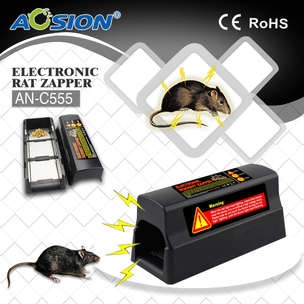 Upgrade Home Aosion Batteries and Adapter operated pest control electric mouse mice killer rat rodent killer zapper and trap