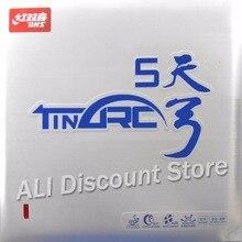 DHS TinArc5 Süper Esneklik Yapışmaz tırtıl in Masa Tenisi Ping Pong Kauçuk Sünger Ile