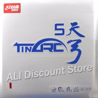 DHS TinArc5 Super Elasticity Non Tacky Pips in Table Tennis PingPong Rubber With Sponge