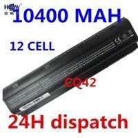 HSW 10400mAh battery for HP Pavilion DM4 DM4T DV3 DV5 DV6 DV6T DV7 G4 G6 G7 G62 G62T G72 MU06 HSTNN-UBOW CQ42 CQ56 CQ62 akku