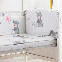 5 piezas bebé niña cuna ropa de cama Bebé Ropa de cama cuna parachoques suave de cama juegos de cama Decoración incluye (4 parachoques + lámina)