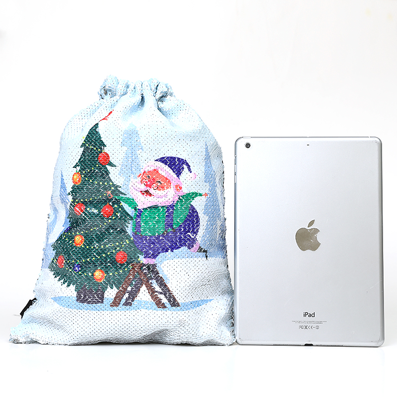New Cartoon Women Unicorn Backpacks Mermaid Sequins Drawstring Bag Christmas Backpack Children School Beach Travel Shopping Bag #2