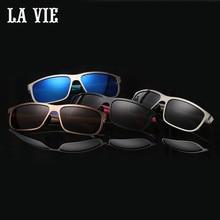 LA VIE Brand 2016 Hot room type alloy sunglasses designer glasses For Men UV400 anti-glare lunettes de soleil gafas sol #8583