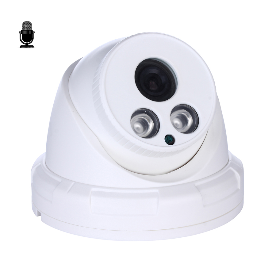Hamrolte Onvif IP Camera 5MP Indoor Dome Security Camera Internal  Microphone Nigthvision H 265 Low Storage Xmeye Remote Access