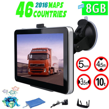 7 pulgadas Camión & FM de Navegación GPS Del Coche Construido en 8 GB/256 M Mueca de Dolor 6.0 Mapa De Europa/EE. UU. + Canadá