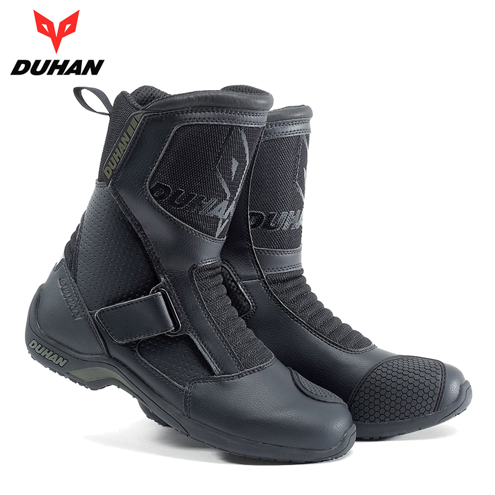 DUHAN Motorcycle Boots Motorcycle Road Racing Motorcycle Shoes Bota Motociclista Moto Motocross Riding Boots for Men motorcycle riding shoes men s waterproof spring anti falling knights boots cross country racing shoes road locomotive boots