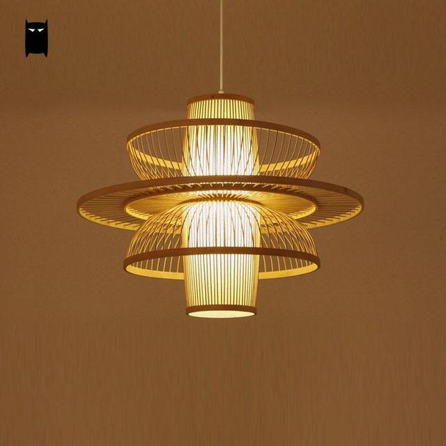 Bamboo Wicker Rattan Dancer Lampshade Pendant Light ...
