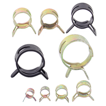 DWCX 90x 9 Sizes 8/10/12/14/15/16/18/20/22mm Spring Clip Vacuum Silicone Hose Clamp Fuel Water Pipe Air Tube Hose Clamp Fastener