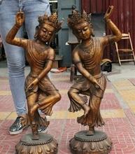 32 «Старый Китайский Тибет Буддизм Бронзовый Свинка Ваджраварахи Phakmo Дордже Статуя Богини