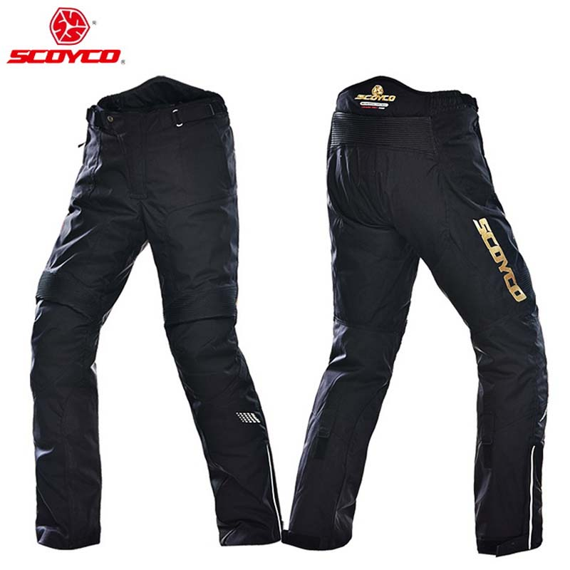 SCOYCO P026 keep warm motocross pants equipment moto motorcycle trousers with knee hip pad цена