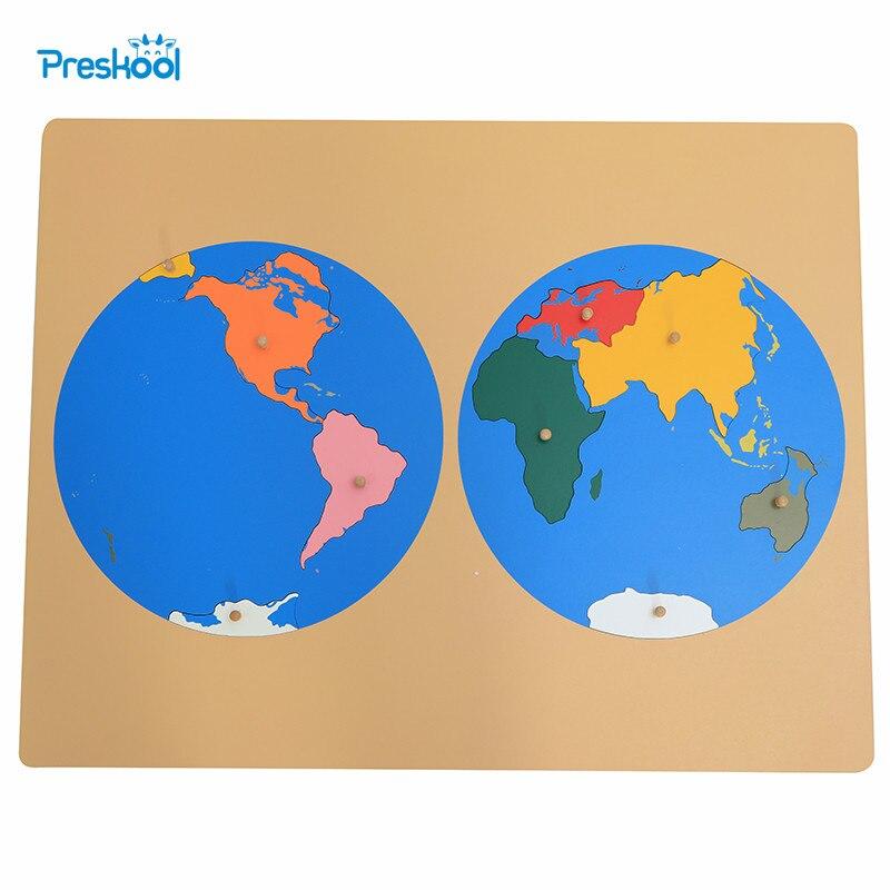 Bébé jouet Montessori Puzzle carte Globe Global Puzzle carte du monde pièces petite enfance éducation enfants jouets Brinquedos Juguetes