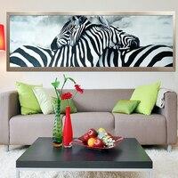 Diamond Embroidery 5D Diy Diamond Painting Cross Stitch Zebra Lovers Round Diamond Mosaic Animals Home Paintings