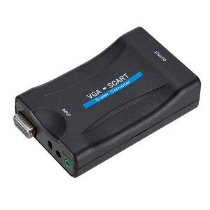 Image 3 - 1080P VGA к SCART видео аудио конвертер адаптер + пульт дистанционного управления + USB кабель + VGA кабели