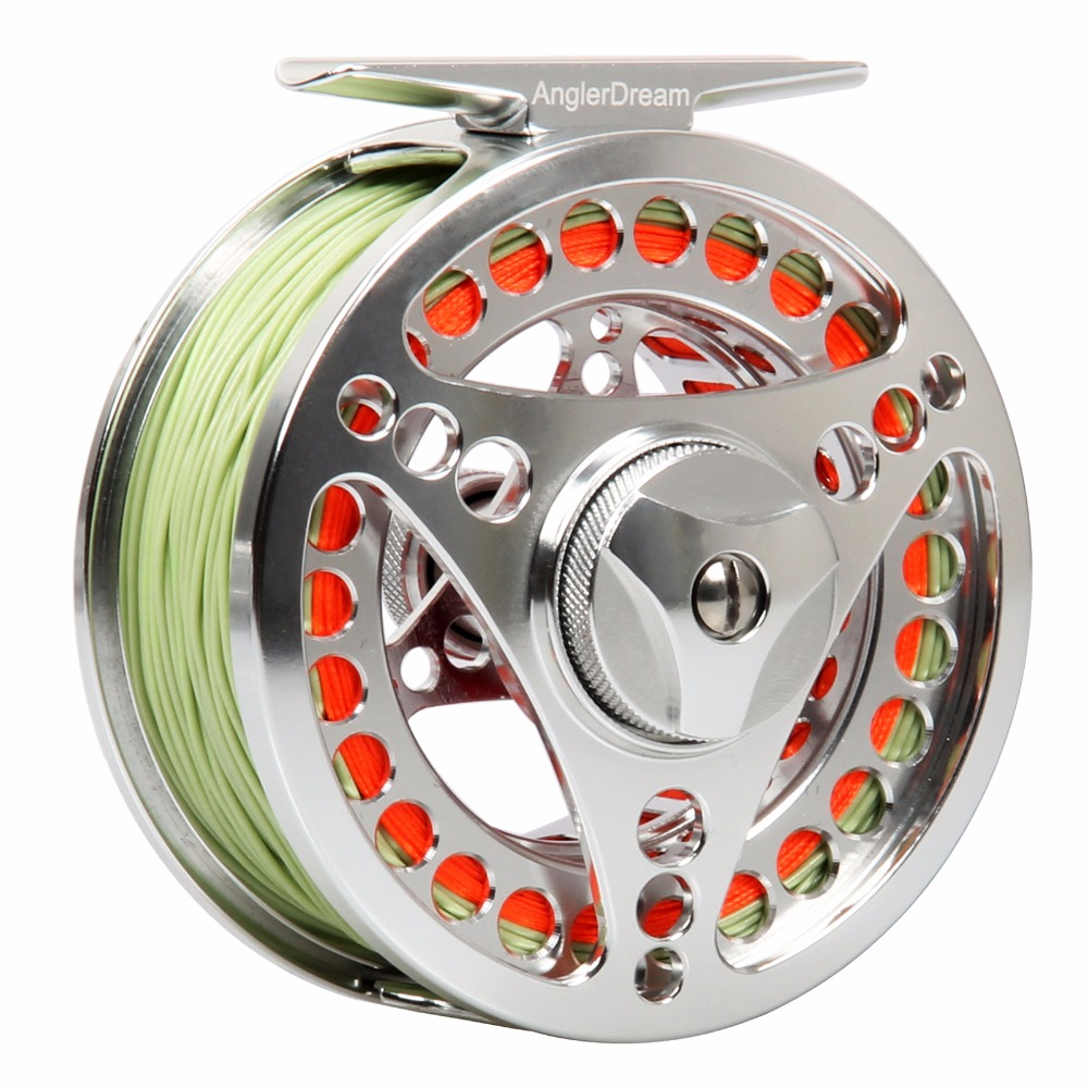 3/4 5/6 7/8 9/10WT Fly Reel Combo CNC Machined Aluminum Fly Reel Silver Large Arbor Fly Fishing Reel Fly Line Backing Leader maximumcatch 06n 2 3 4 5 6 7 8wt fly fishing reel cnc machine cut large arbor aluminum silver color fly reel page 8