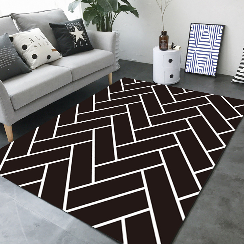 LOUTASI Simple Modern Nordic Rugs Living Room Bedroom Floor Mats Absorbent Anti skid Carpet Bedside Rectangular Coffee Table Rug in Carpet from Home Garden