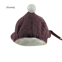 Baby Plus Warm Thick Winter Knitted Hat Kid Earflap Cap Boy Child Pilot Hat Wholesale
