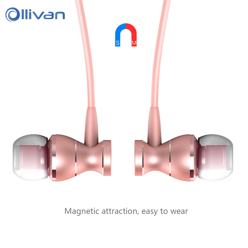 In-Ear Earphone Headset Wire Control Magnetic Clarity Stereo Sound With Mic Earphones For iPhone Android Mobile Phone MP3 MP4 PC em290 copper wire earphone in ear with mic clear 3d sound quality handsfree call for android ios smartphone oppo xiaomi mp3 pc