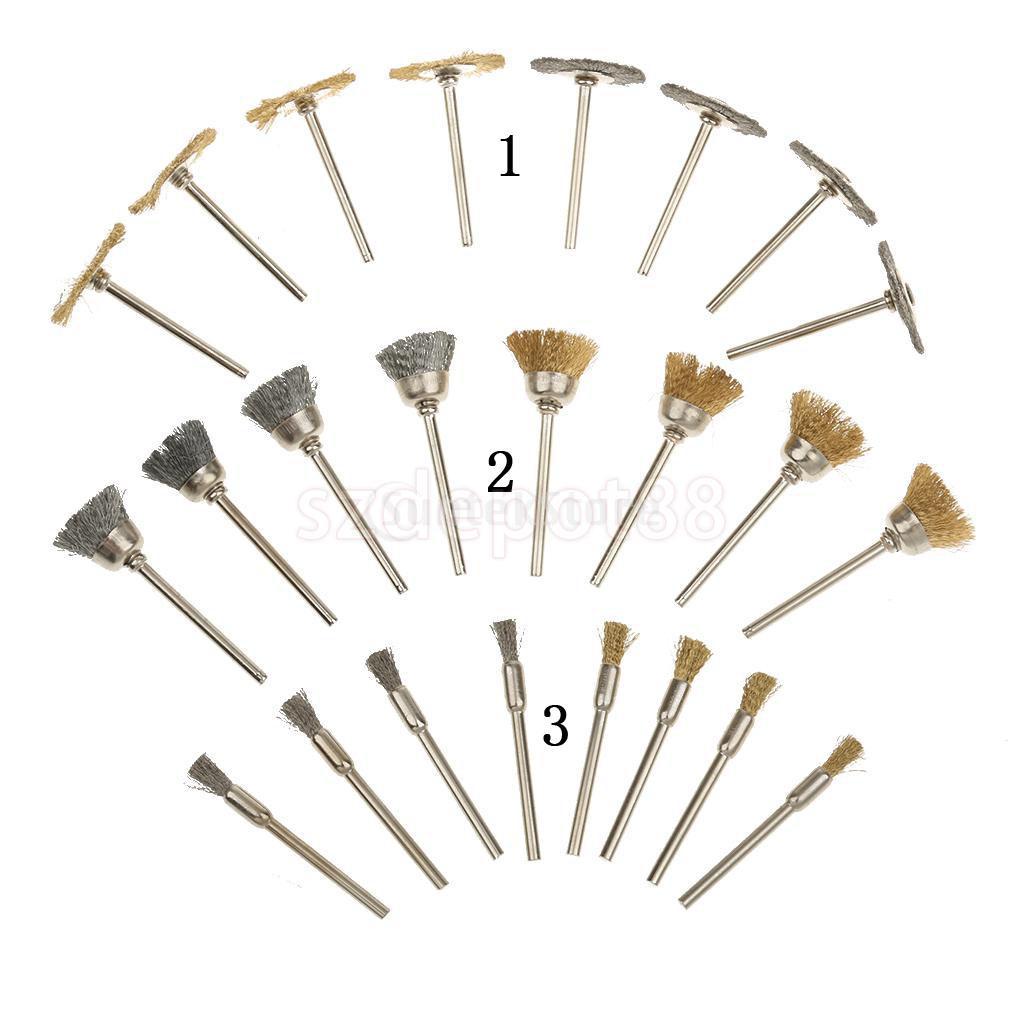 24pcs Polishing Compound Buffing Wheel Pad Brusher Jewelry Polishing Tool