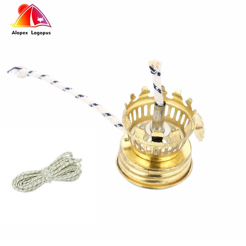 10Pcs Lamp Holder 2017 Hot Kerosene Lamp Seal Fitting Close Seal Iron Plating Tyrant Gold With Wick Kerosene Lamp Holder
