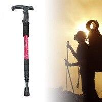 Retractable Anti Shock Walking Sticks Telescopic Trekking Hiking Poles Ultralight Sports Camping Mountaineering Canes Crutch NEW