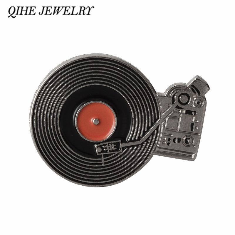 Broschen Aufrichtig Qihe Schmuck Schallplatte Player Pins Vintage Record Player Broschen Buttons Geschenk Für Klassische Musik Liebhaber Schmuck & Zubehör