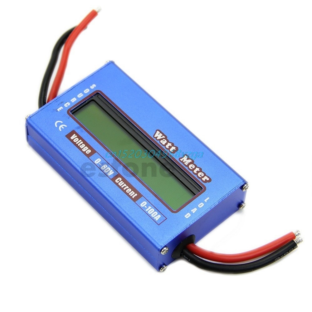 Battery Power Analyzer Watt Meter Balancer For DC RC Helicopter Digital 60V/100A #H028# hp9800 pc usb port 4500w 85v 110v 220v 265v ac 20a electric power energy monitor tester watt meter analyzer with socket output