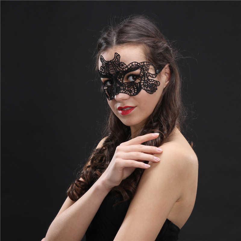Seksi Renda Masquerade Masker untuk Karnaval Halloween Masquerade Setengah Wajah Bola Masker Pesta Meriah Perlengkapan Pesta 30