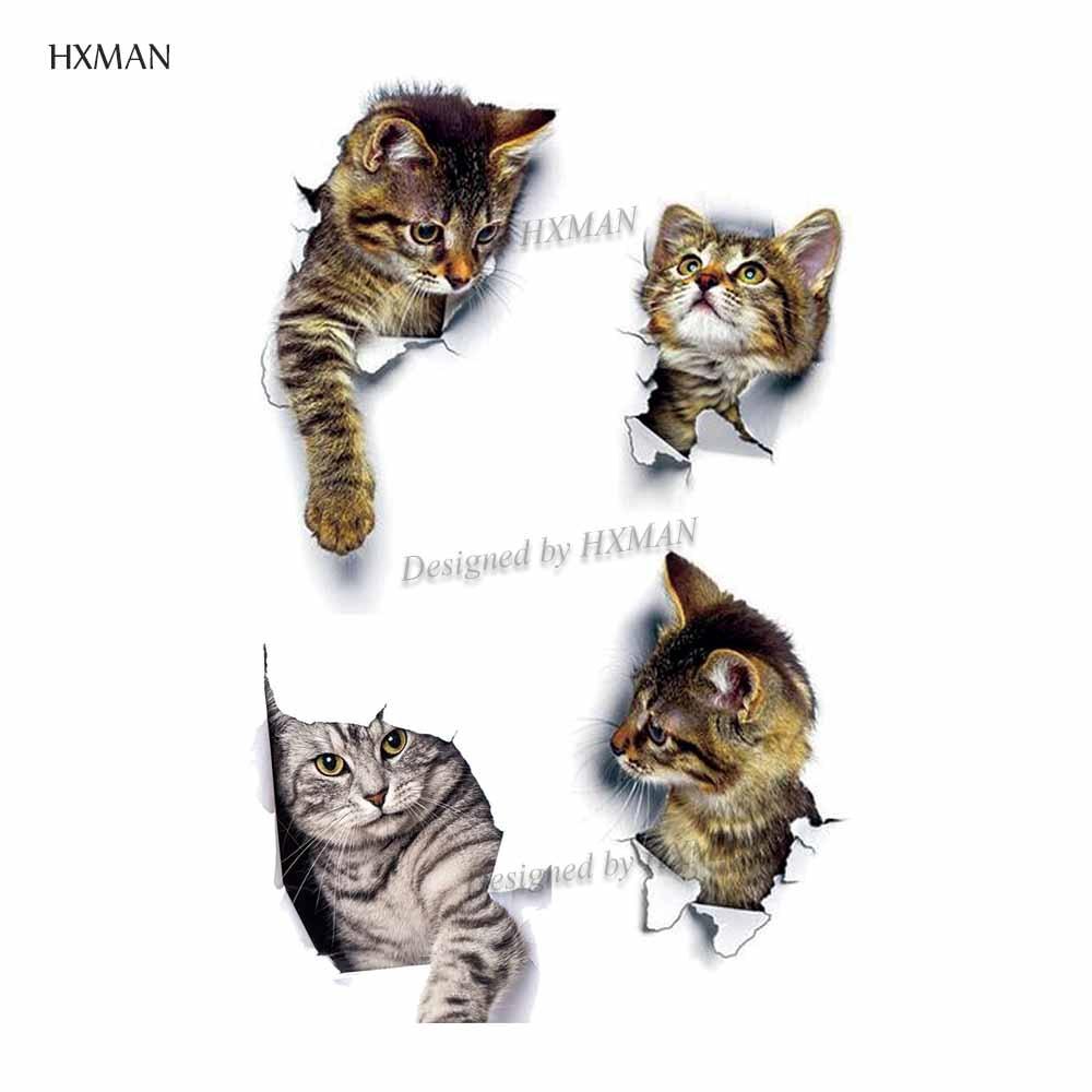HXMAN Cat Temporary Tattoo Sticker Waterproof Women Fashion Animal Kids Hand Tattoos Fake Body Art 9.8X6cm A-155