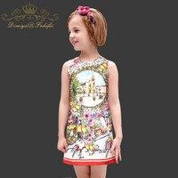 Estate delle ragazze Della Principessa Dress con I Cristalli 2018 Marca Famosa Robe Fille Bambini Abiti per Vestiti Del Bambino Bambini Abbigliamento Costume