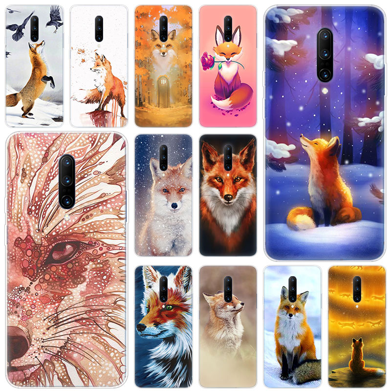 Hot Animal fox Soft Silicone Fashion Transparent Case For font b OnePlus b font font b