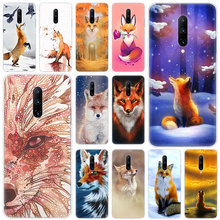 Hot Animal fox Soft Silicone Fashion Transparent Case For OnePlus 7 Pro 5G 6 6T 5 5T 3 3T TPU Cover