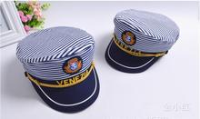 2019 5x New Striped Navy Cap for Adult Children Fashion Captain Hats Caps Women Men Boys Girls Sailor Army Naval