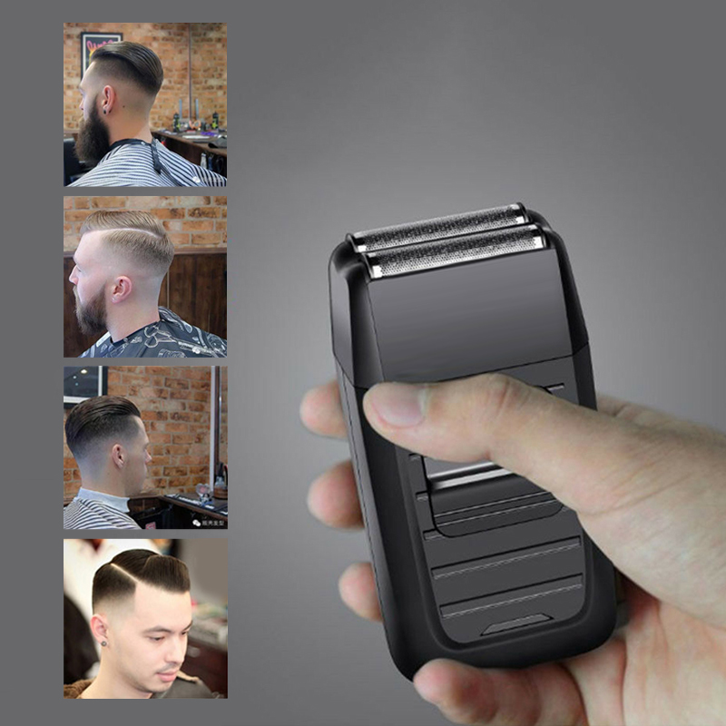 Electric Reciprocating Hair Shaver Kemei Rechargeable Cordless Shaver for Men Double Blade Rechargeable Hair Trimmer Razor