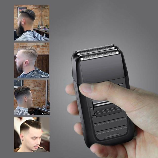 Kemei Afeitadora eléctrica de vaivén para hombre, afeitadora inalámbrica recargable, doble hoja, maquinilla de afeitarMaquinilla de afeitar