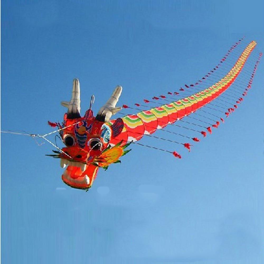 2020 nouveau chinois artisanat traditionnel tête de Dragon mille-pattes enfants cerf-volant sept mètres de Long en plein air Parent-enfant jouets