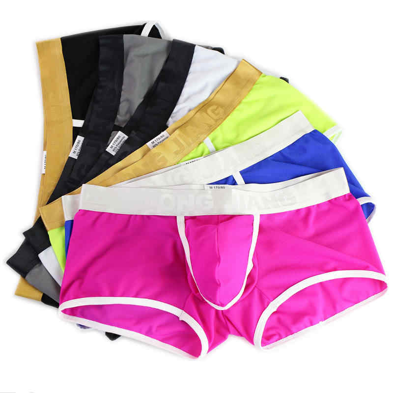 da4b3367026b 6Pcs/Lot Men's Underwear Boxers Sexy Bulge Pouch Boxer Shorts Trunks Ultra  Thin Underpants Ice
