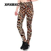 a06b1d08e0 XAXBXC 3901 Sexy Girl Pencil Pants Giraffe pattern leopard Stripe Printed  Elastic Slim Fitness Workout Women