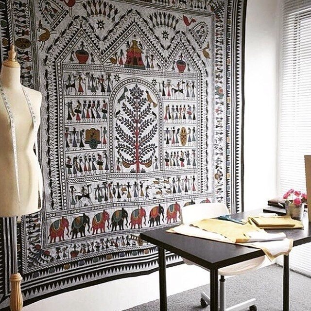 Cilected Bohemian Prints Elephant Tapestry Gobelin Art Wall Hanging  Decoration Wall Decor Curtain Cloth 148x200cm Drop