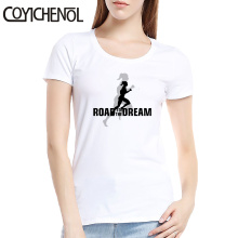Road to the dream tshirt woman 6XL o-neck short sleeves customize tops large size solid color tee couple top