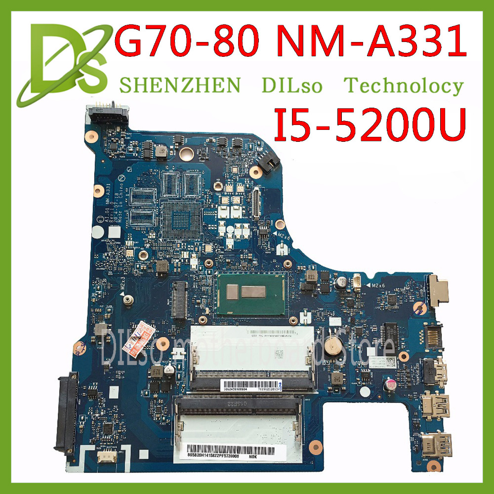 KEFU NM-A331 Motherboard For Lenovo G70-80 B70-80 Z70-80 Z70-70 Motherboard AILG NM-A331 I5-5200U CPU Test 100% Work Original
