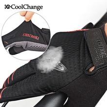 Cool Change Men's Cycling Gloves Long Finger Gel Pad Sport