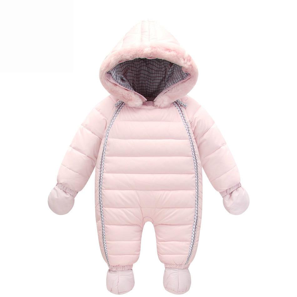 Orangemom zimní chlapeček snowsuit 90% kachna dole dětská sněhově bunda nepromokavá tlustá kombinéza pro dětskou bundě 6-24M dítě