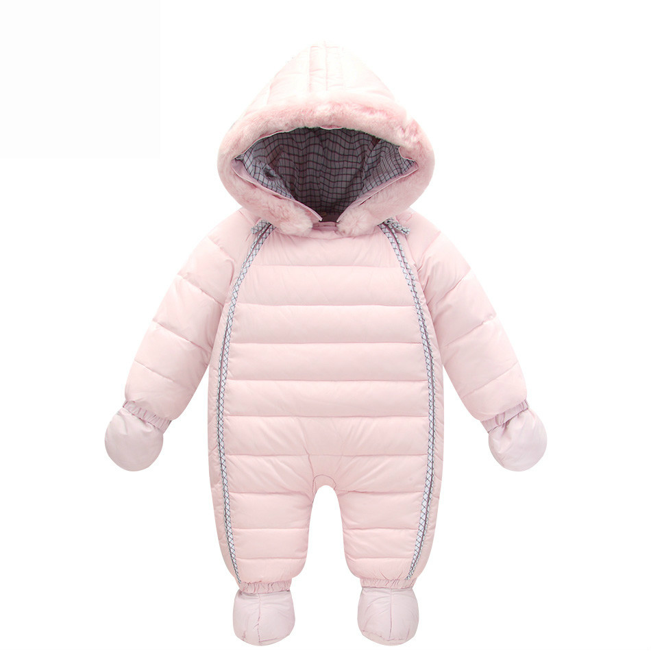 Orangemom Winter Baby Boy Snowsuit 90% Duck Down Infant Snow Jacket Waterproof Thick Jumpsuit For Children's Jacket 6-24M Infant