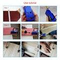 Mini Bolso Buraco Gabarito Kit Sistema de Ligação 3 Passo Broca De Madeira Passador Gabarito de Madeira Inclinada Conjunto de Ferramentas PAK55