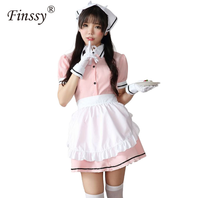 Blend S Kanzaki Hideri Coffee Maid Sakuranomiya Maika Cosplay Costume Girl Halloween Uniform Suit Outfit Headwear Apron Gloves