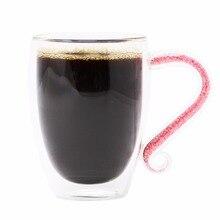 KEYTREND Doppelwandigen Kaffeetassen Strass Gefüllt Handgriff Borosilikatglas Niedlichen Kaffeetasse AECL072