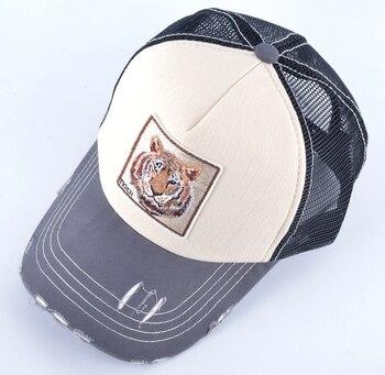 Animals Embroidery Baseball Caps Snapback Hip Hop Bone Men Breathable Mesh Visor Hats Women Streetwear Trucker Cap Wholesale 2