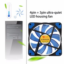New Cooler Computer Fan 120mm LED Ultra Silent Computer PC Case Fan 15 LEDs 12V 1500RPM 3 Pin Easy Installed Fan