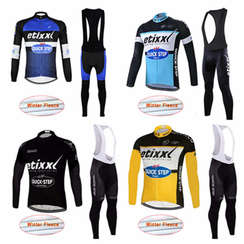 2018 Bike Sport Wear Super Warm QUICK STEP Cycling Jersey Winter Thermal  Fleece MTB Bicycle Clothing aed243303